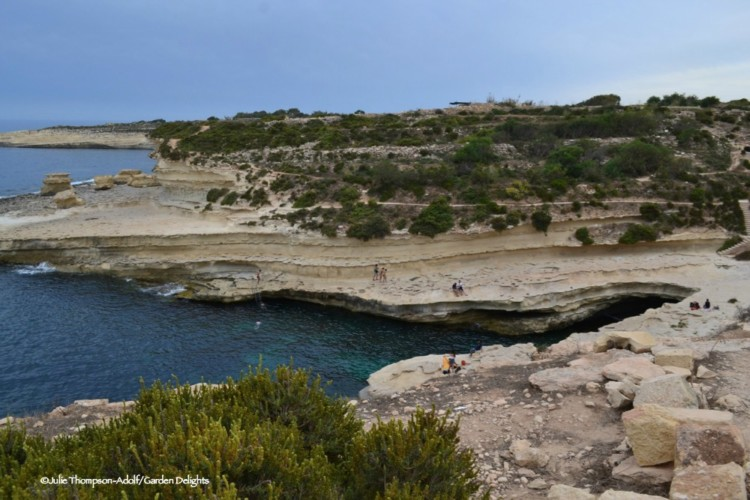 7 fabulous must-see Malta beaches: St. Peter's Pool is popular with local Maltese.