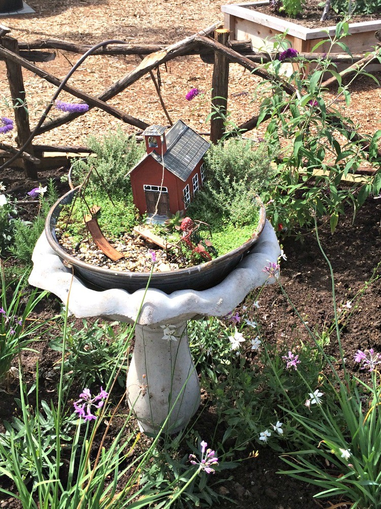 Sweet little fairy garden at Magnolia Market, one of the fun things to do in Waco.