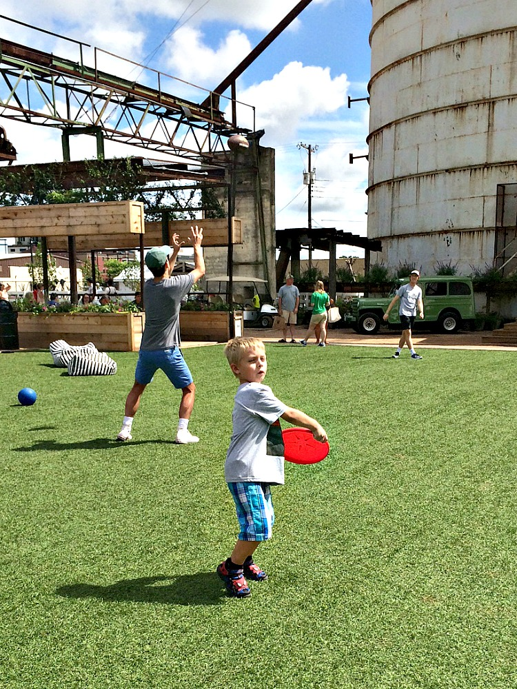 The green space at the silos is one of the many fun things to do in Waco.