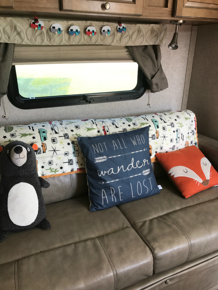 Decorate on the road when you outfit your travel trailer for camping.