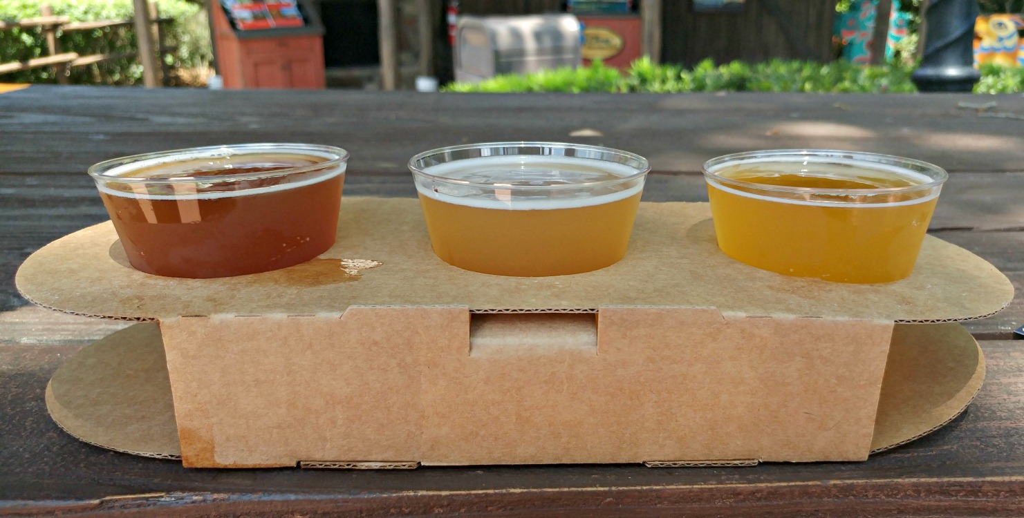 Want to try new beers without having to drink too much? During Epcot's Flower & Garden Festival, you can order beer flights! These smaller samplings are perfect for sharing whole strolling the Epcot World Showcase.