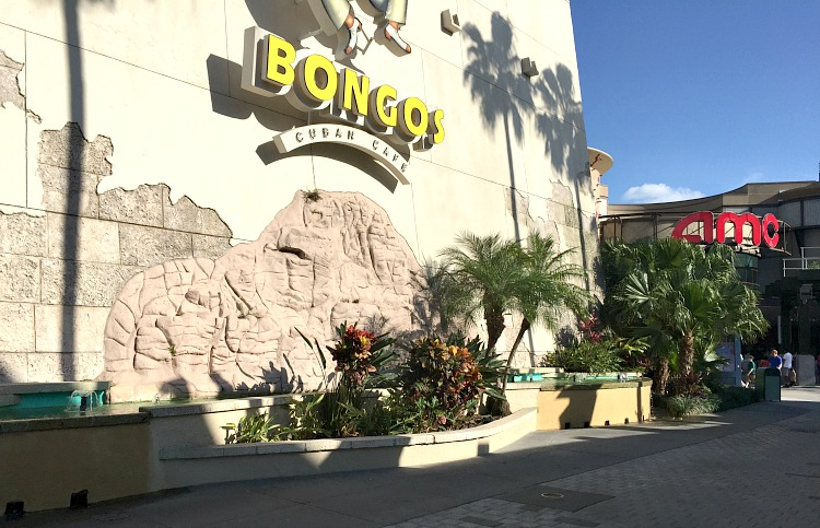 Stay cool at Disney Springs in the area next to Bongos