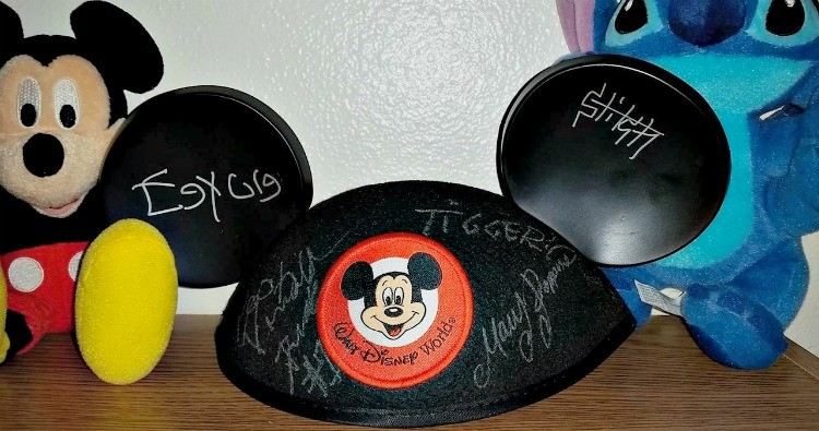 Pack your favorite Mickey ears and a white oil sharpie to create a fun autograph keepsake