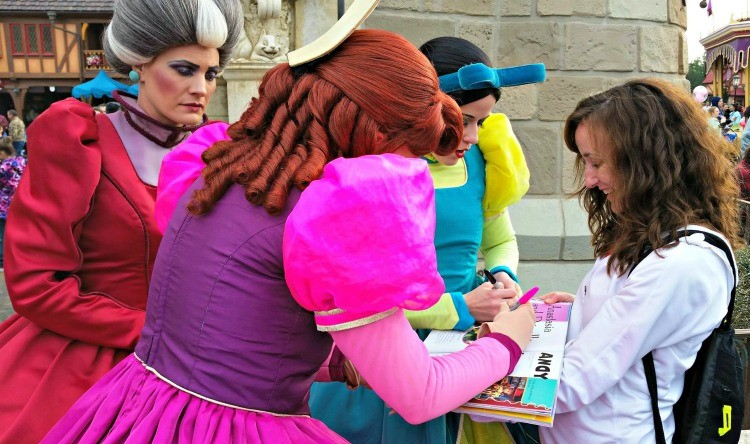 Unique ways to collect character autographs at Disney, including using the Disney Junior Encyclopedia of Animated Characters book
