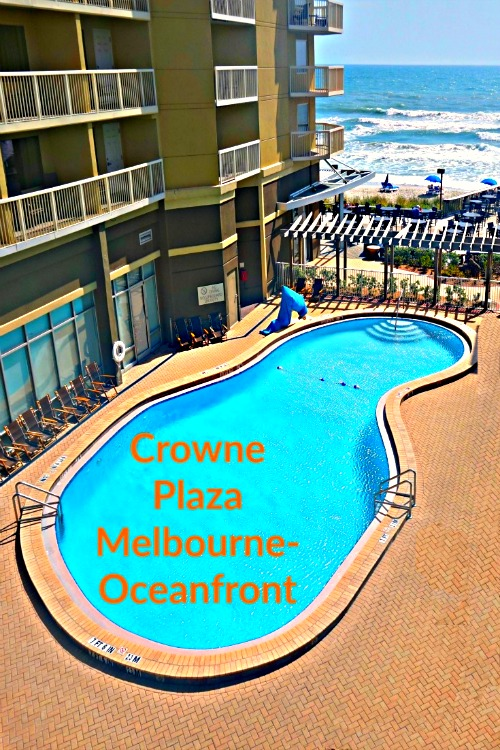 Looking for a Florida beach hotel near Disney? The Crowne Plaza Melbourne-Oceanfront is a family-friendly property right on the water.
