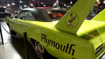 69 Plymouth Roadrunner Superbee on display at the Floyd Garrett Muscle Car Museum in Sevierville, TN near Pigeon Forge.