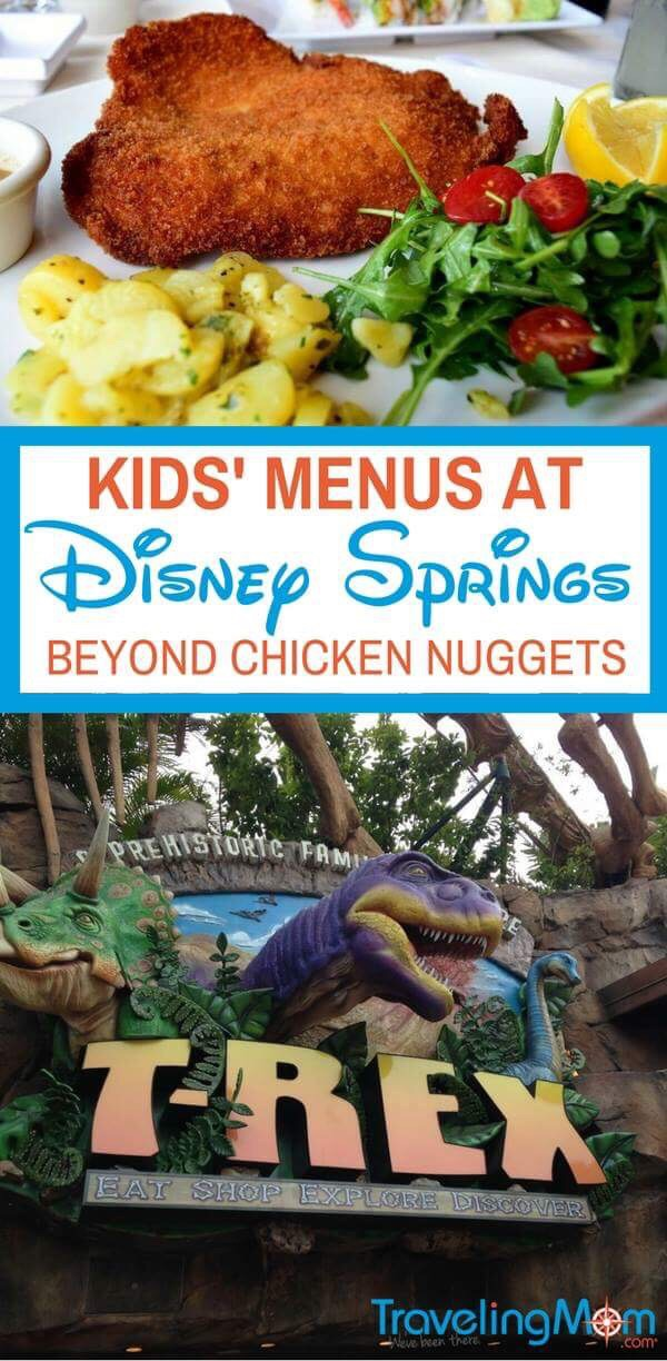 Tired of chicken nuggets? There's a variety of food for kids at Disney Springs. Read on to discover the best Disney Springs Kids' Menus.