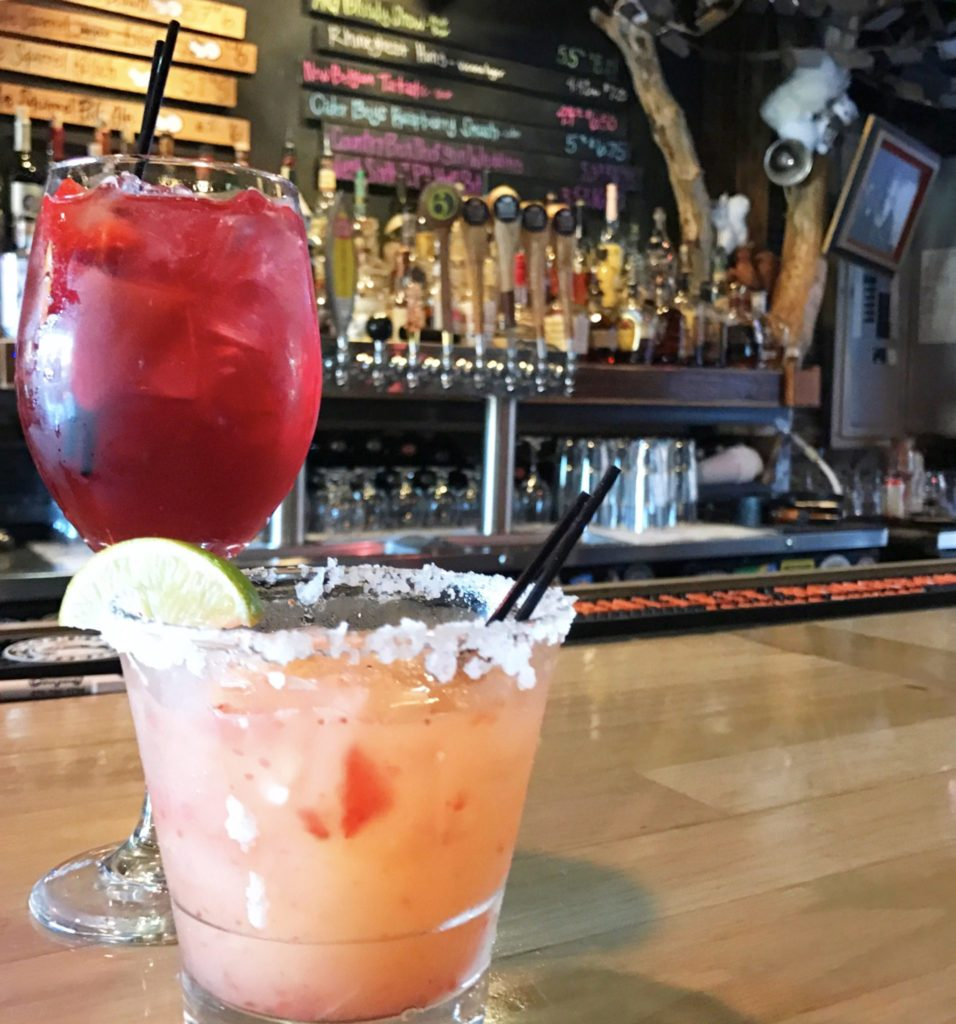 A sweet & spicy margarita and a summer sangria at White Squirrel Brewery in Bowling Green, Kentucky
