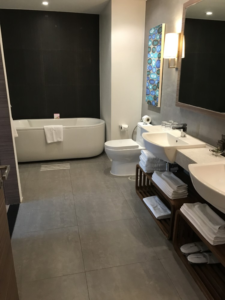 Novotel Karon Beach features an incredible bathroom.