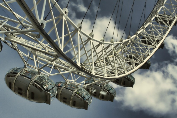 Take a break and mosey around London with kids with a visit to The London Eye .