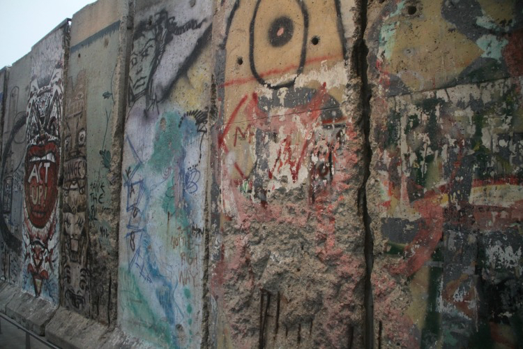 See large pieces of the Berlin Wall at the Newseum during a family trip to Washington DC.