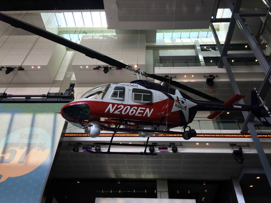 See a real-life news helicopter at the Newseum during a family trip to Washington DC.