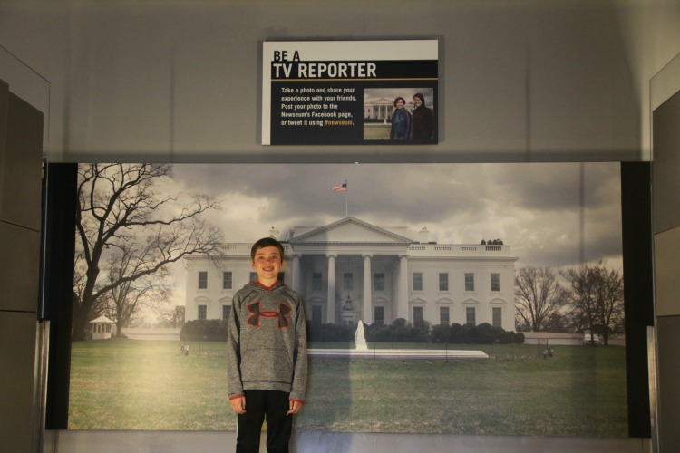 "Kids can read a teleprompter and ""Be a Reporter"" at the Newseum during a family trip to Washington DC."