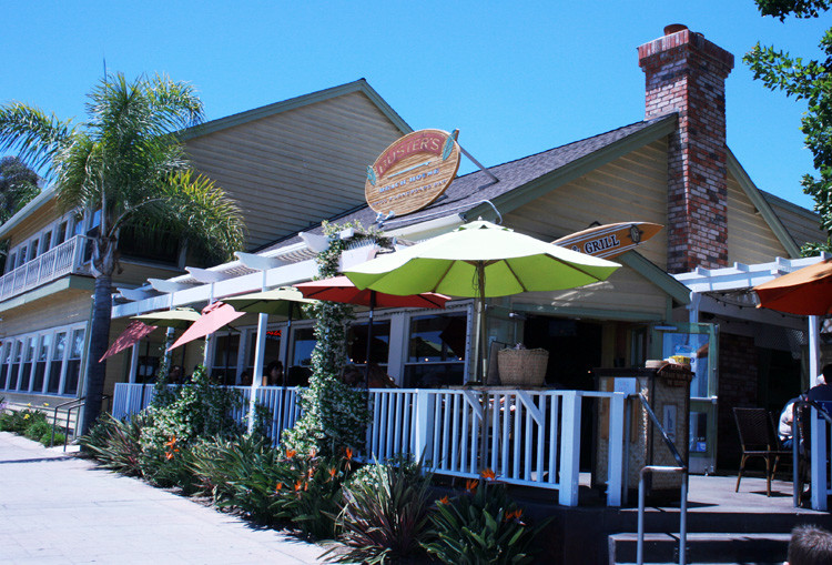 Exterior of Buster's Beach House in Seaport Village in San Diego.