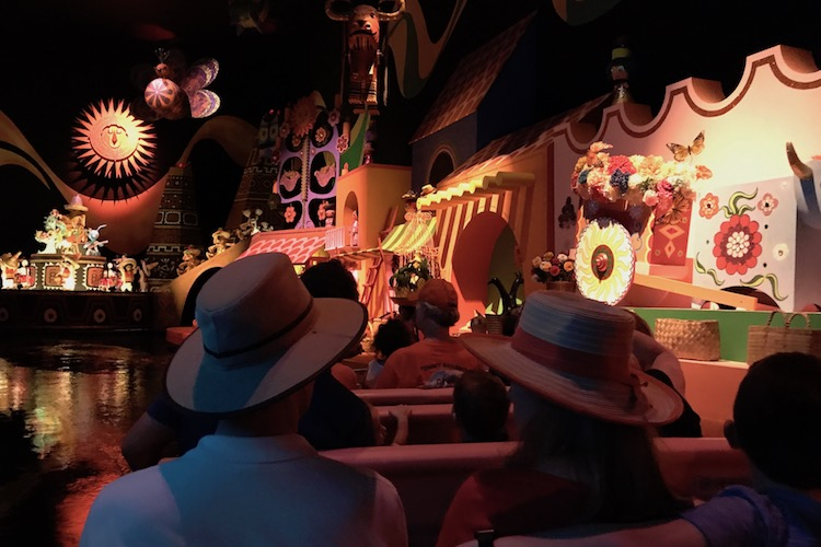 A favorite attraction for preschoolers, It's a Small World is a great place to take a break in the Magic Kingdom.