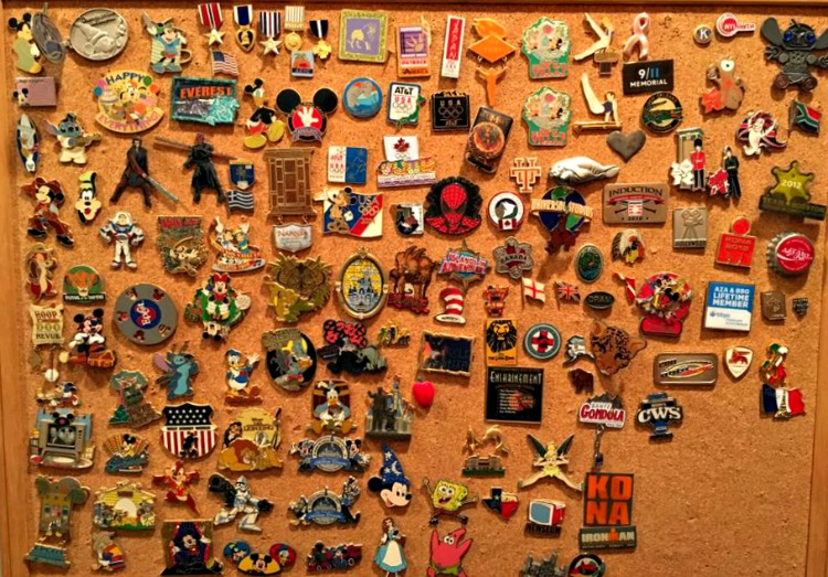 Disney Pins are a popular item for families to collect and display at home.
