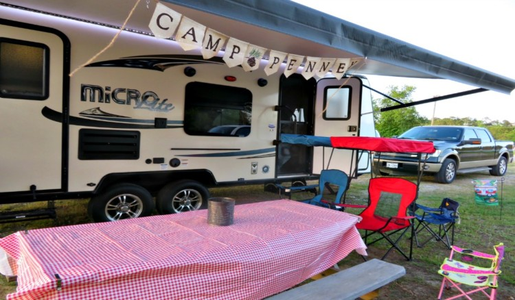 Travel trailer camping is easy once you set up.