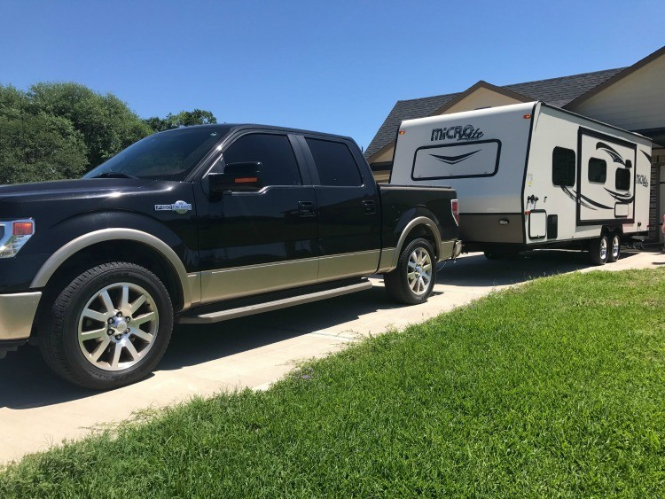 More and more families are travel trailer camping because it's cost effective.