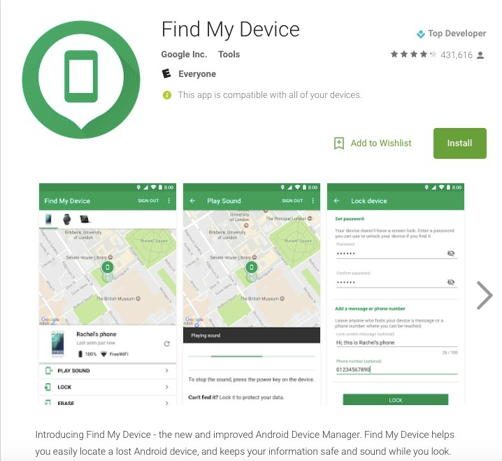 Vacation tech tips - download Find My Phone app to manage your android devices.