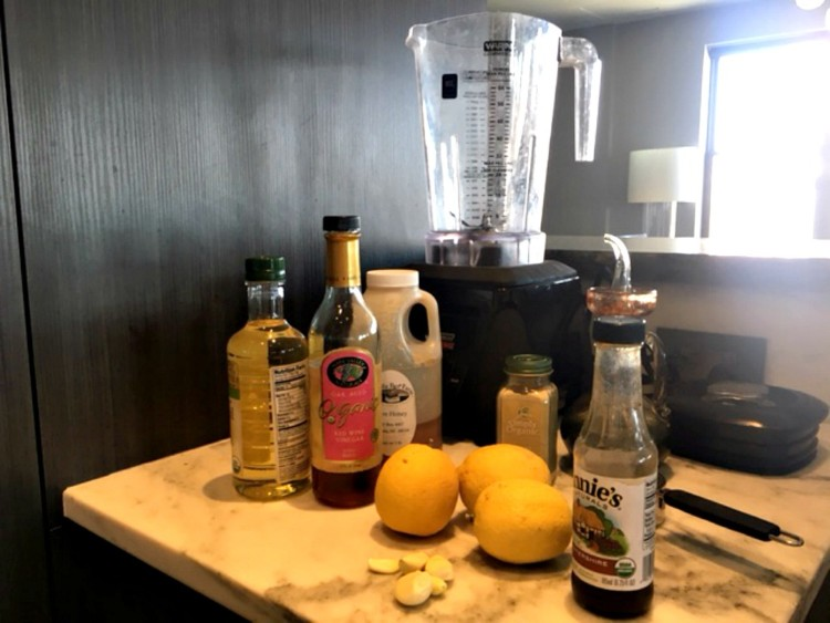 what are the ingredients to make the disney world recipe for the brown derby cobb salad dressing
