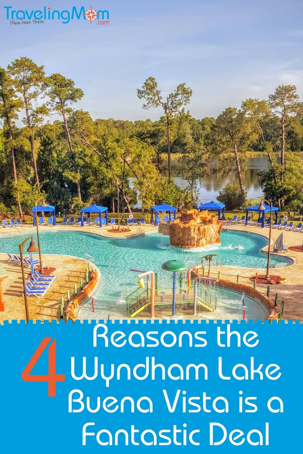 The Wyndham Lake Buena Vista is affordable and across the street from Disney Springs!