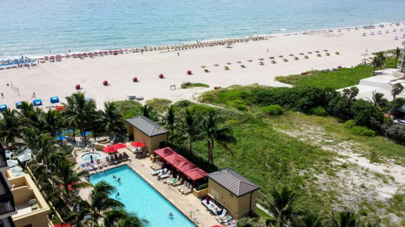 This Palm Beach resort is set on an expansive beach.