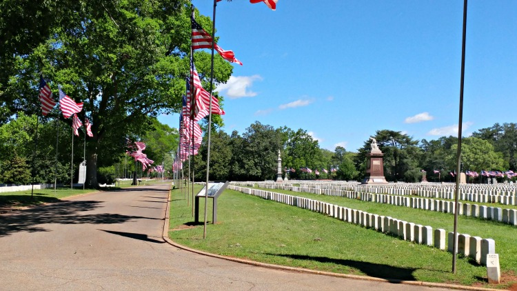 Andersonville National Cemetery at the Andersonville National Historis Site in Columbus, GA is a sobering reminder of sacrifice.