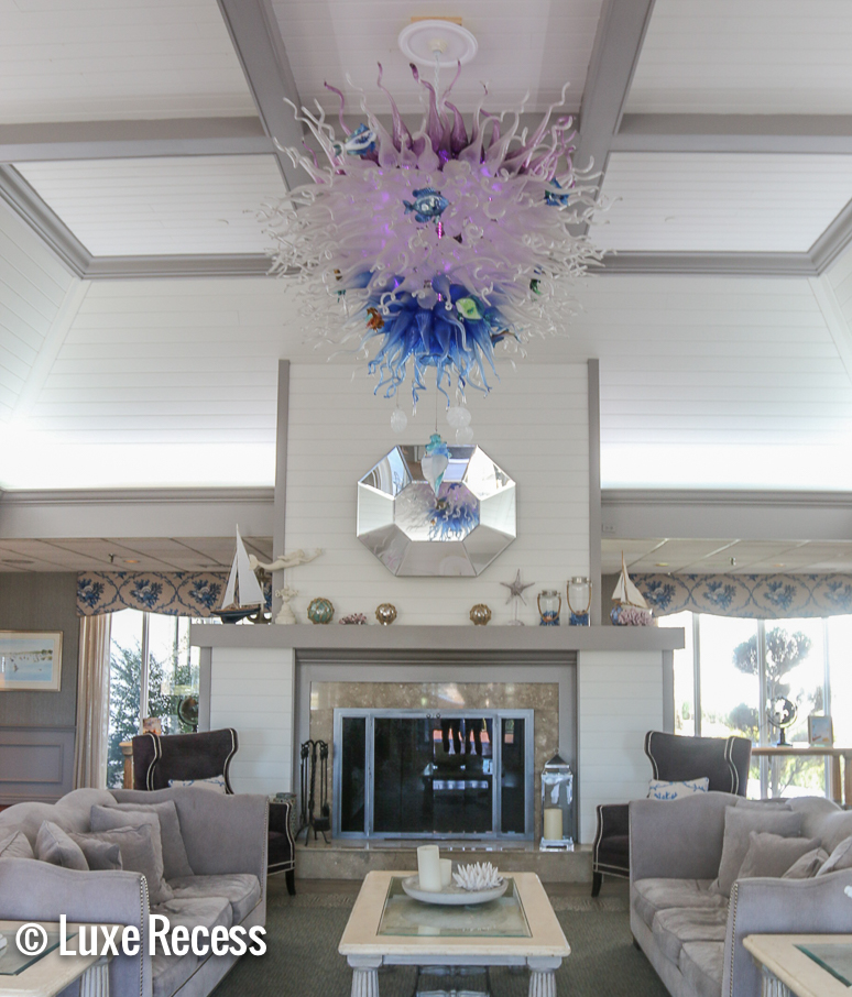 Cape Codder Resort lobby with a waterpark on Cape Cod in Massachusetts.
