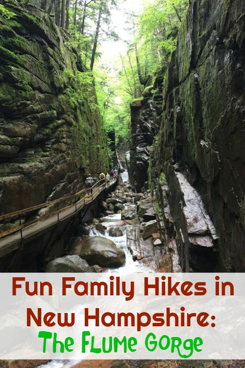 Discovering covered bridges, amazing waterfalls, and incredible mountain views makes trekking The Flume Gorge a fun family hike in New Hampshire.