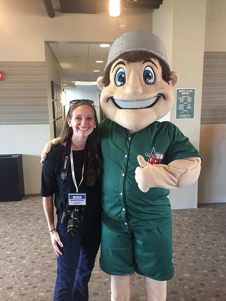 Meet Johnny Appleseed at a TinCaps baseball game in Fort Wayne, IN, one of my ways to find affordable family fun in Fort Wayne