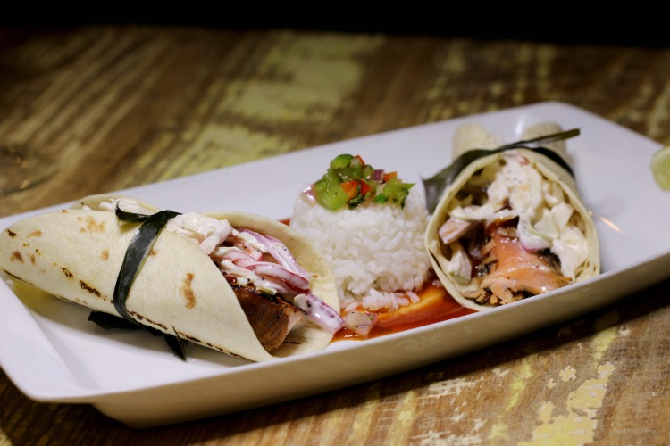 The Salmon Tacos had a delicious Asian twist