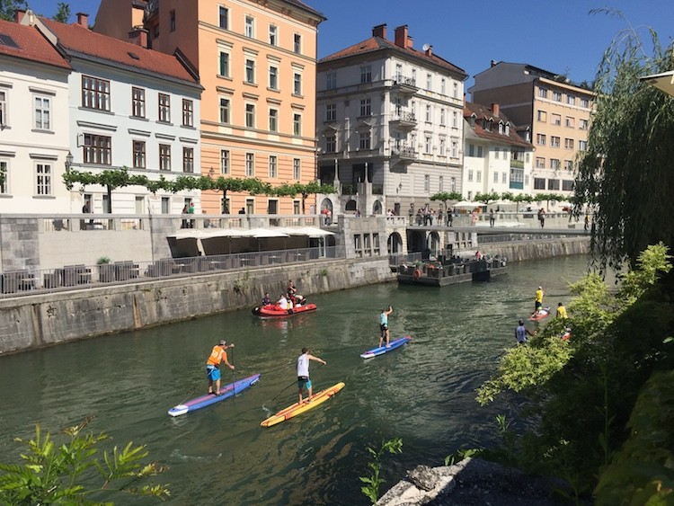 Reasons to visit Ljubjana, Slovenia include enjoying city canals.