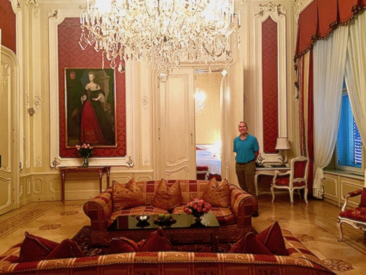 The Hotel Imperial in Vienna, Austria upgraded my husband and me to a royal suite