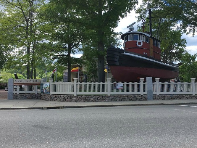 See Boats and learn about history at the seaport in Mystic, Connecticut