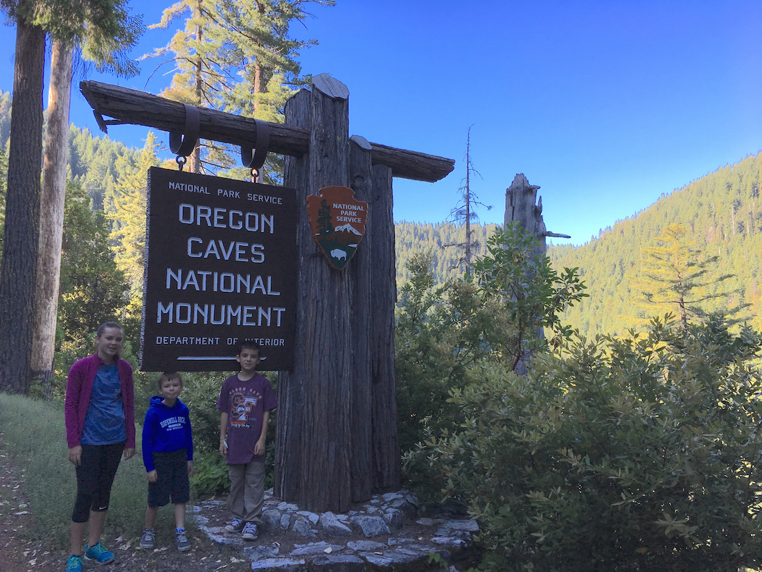 Take a Oregon family road trip to Oregon Caves National Monument.