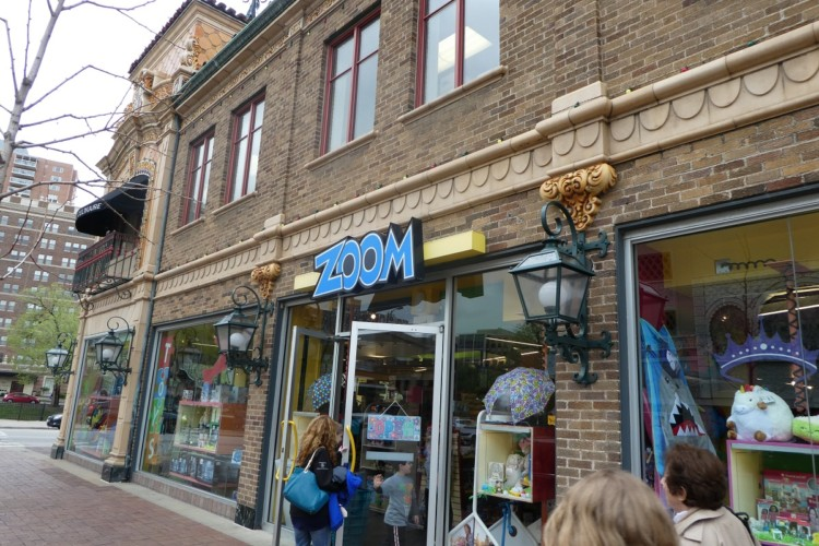 Visit Zoom toy store, fun for all ages and a reason Kansas City is a good multi generation vacation destination.