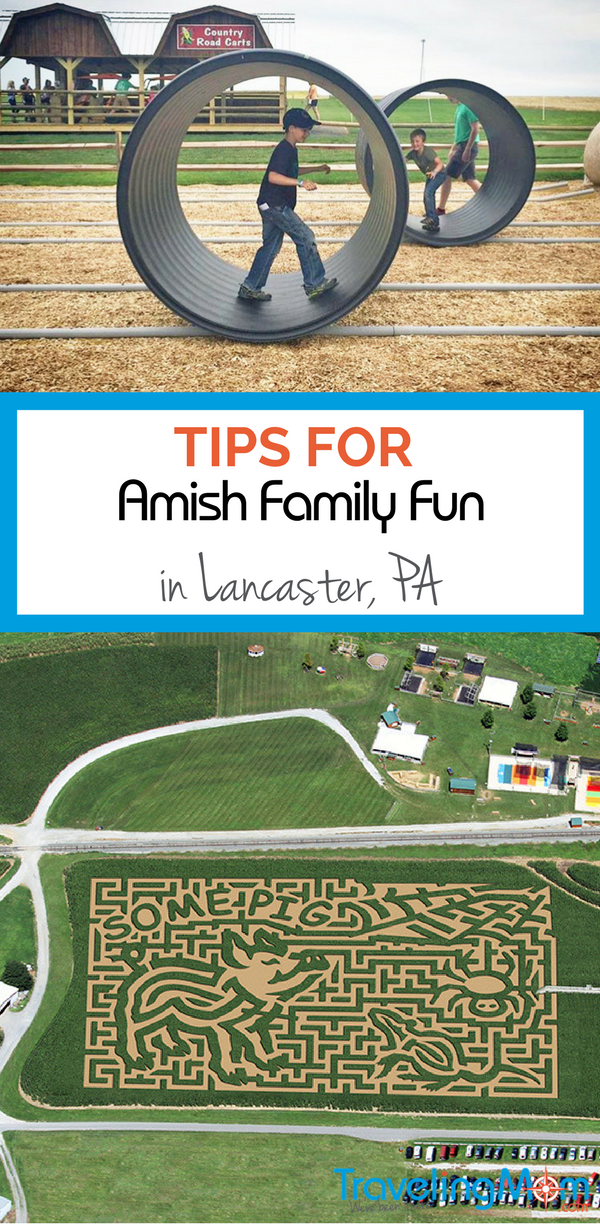 Want an authentic Amish Country Family Vacation? Read all about our visit to Lancaster, Pennsylvania! Corn maizes, Amish history, outlet shopping and more!