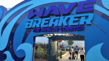 Entrance to Wave Breaker Coaster at SeaWorld San Antonio
