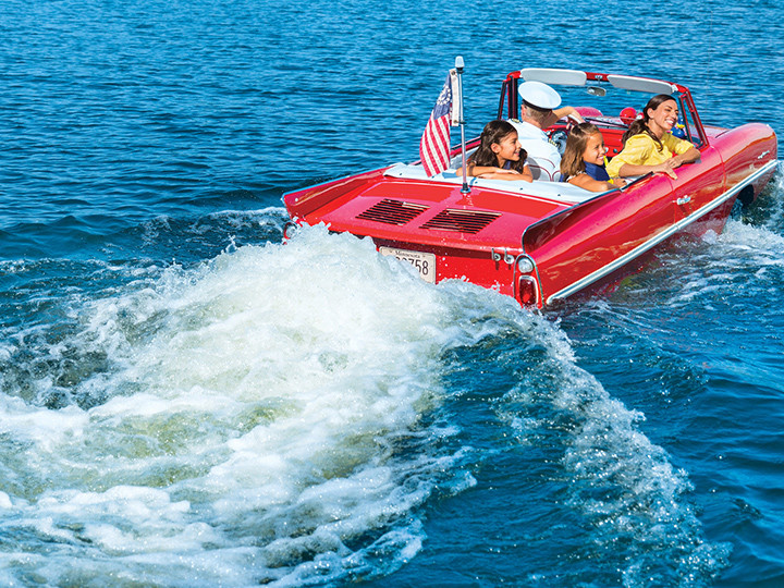Got fun things to do with kids outside of Walt Disney Parks? Say yes to Amphicar at Disney Springs