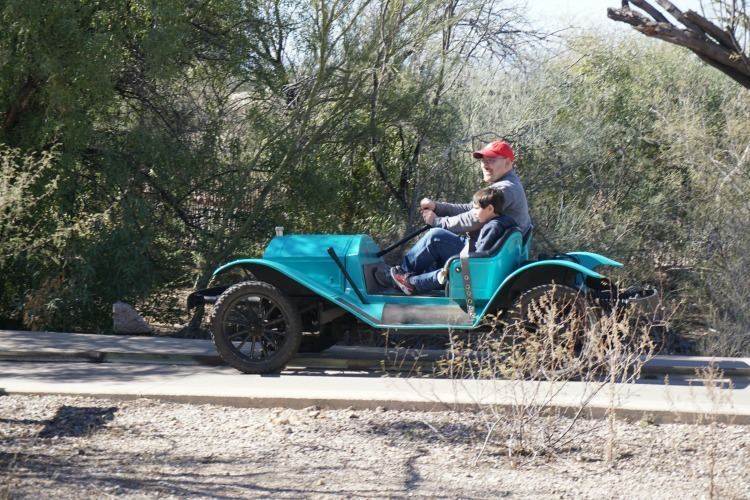The vintage cars at Old Tucson Studios also provide family fun in Tucson. Photo by Multidimensional TravelingMom, Kristi Mehes.