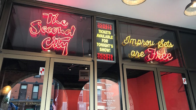 The Second City theater, one of Chicago's Best