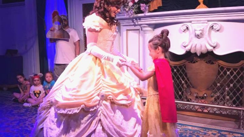A little princess can meet a favorite Disney Princess on a first time Disney trip!
