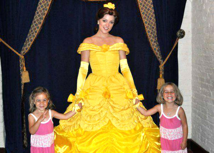 Meeting a Disney princess on a first time Disney trip can make any young princess smile big!
