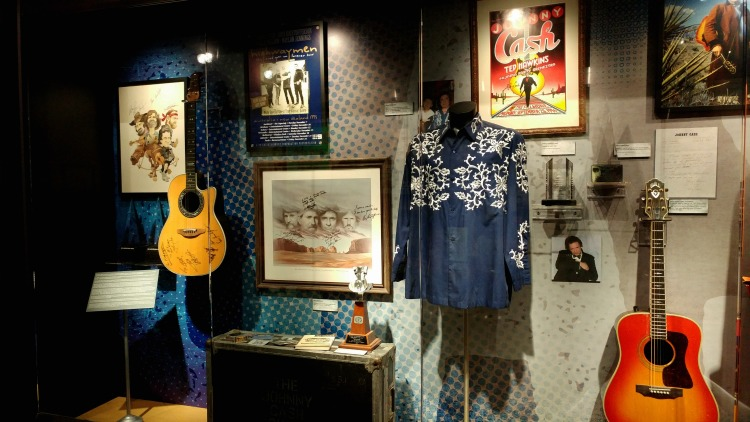 Memorabilia from the Highwaymen and life of Johnny Cash at the Johnny Cash Museum in Nashville, TN.