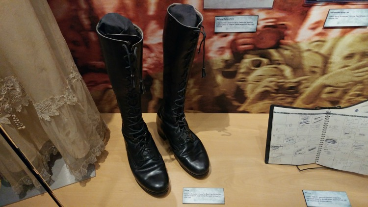 Stage boots worn by Johnny Cash at the Johnny Cash Museum, an interesting destination for music lovers in Nashville, TN