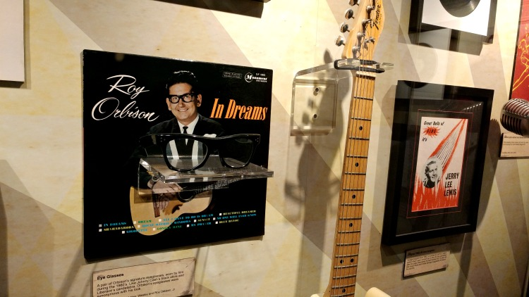 Signature Roy Orbison glasses at the Johnny Cash Museum in Nashville, TN.