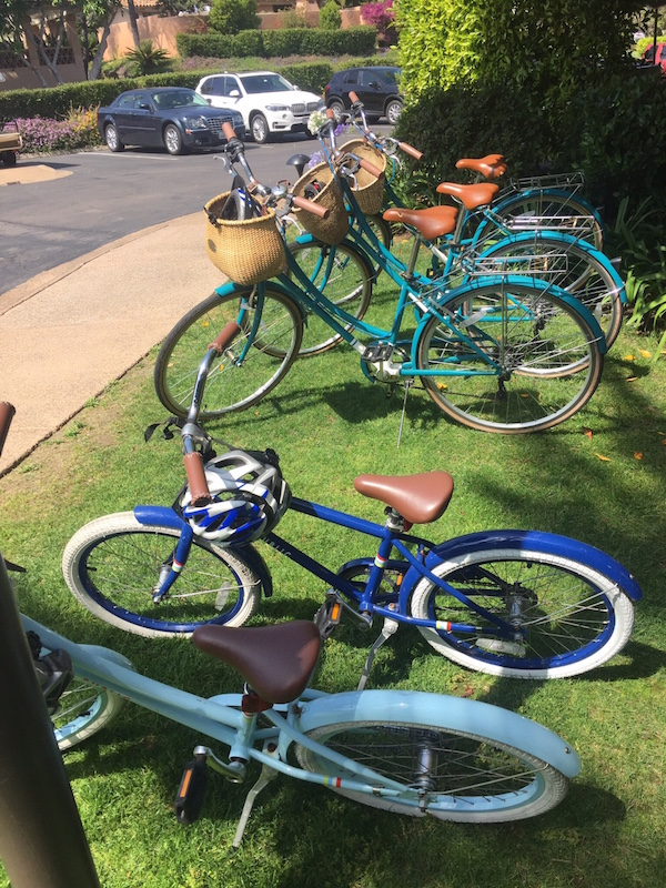The free bikes at Rancho Valencia. Read about them in our luxury hotel review.