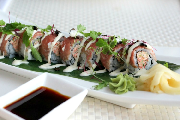 The Tiger Roll at Ocean Hai is a popular dish