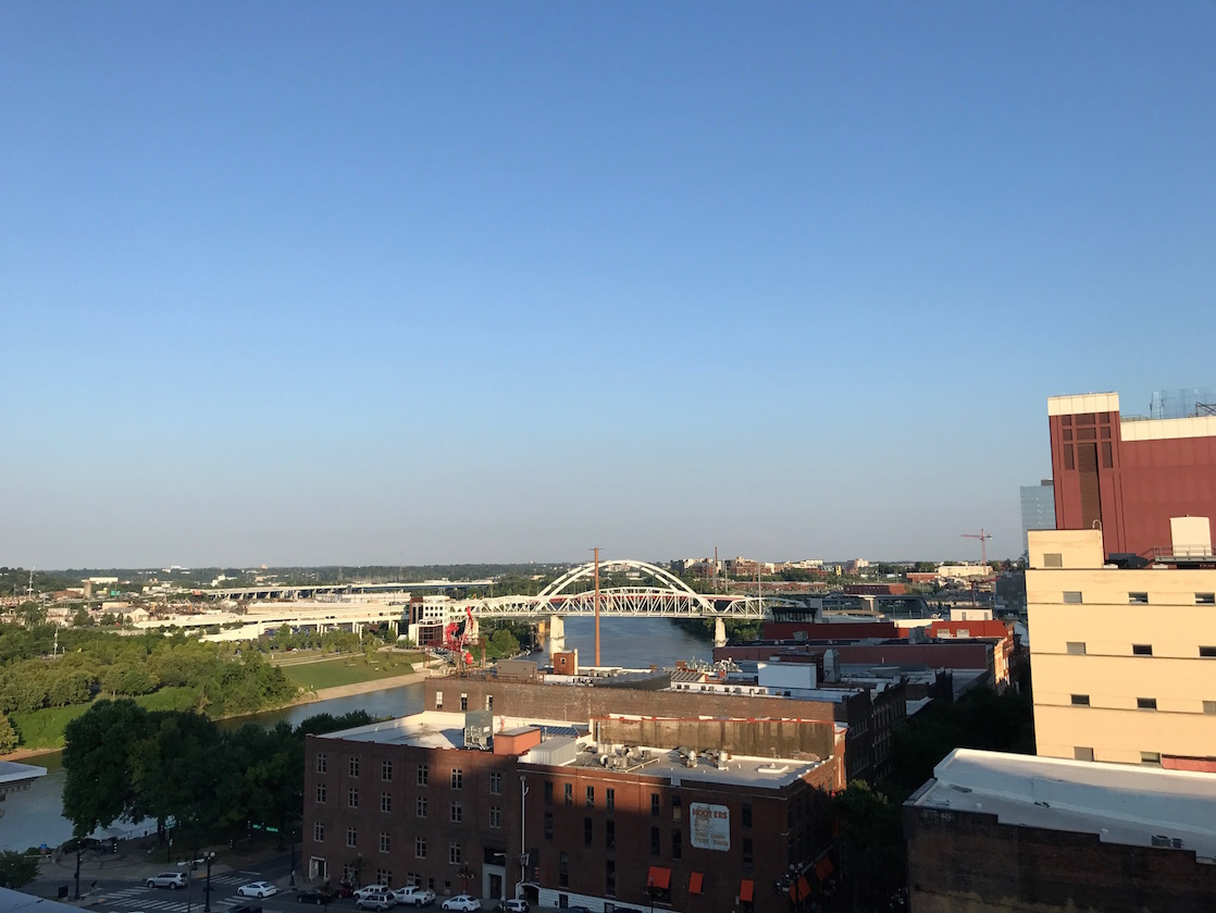The 21c Museum Hotel offers a great view from its suites.