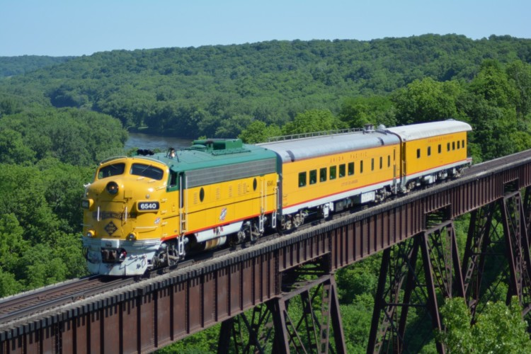 Take a ride on the Boone & Scenic Valley Railroad in Central Iowa.
